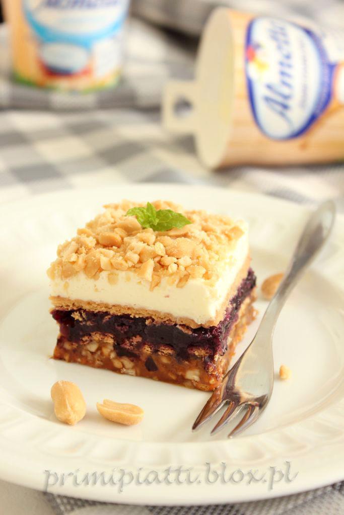 ciasto bez pieczenia, z orzeszkami i almette