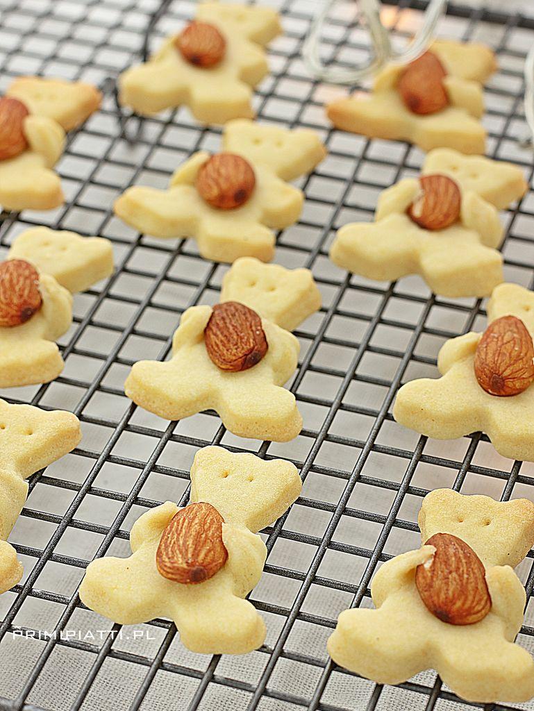 Ciastka maślane, czyli słodkie misie z migdałami