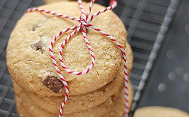 Ciastka sezamowo – czekoladowe