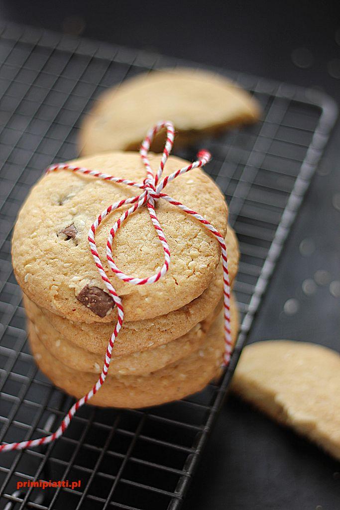 ciastka sezamowo - czekoladowe
